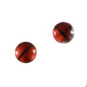 6mm Small Red Dragon Glass Eyes Doll Irises for Art Polymer Clay Taxidermy Sculptures or Jewellery Making Set of 2
