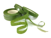 Floral Tape Light Green 4 Rolls 30 Yards Foral Dark Glue Cohesive 12 mm Pair Artificial Flower Stem Tool