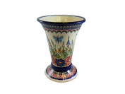Polish Pottery Tall Vase, 20cm tall x 14cm at the top