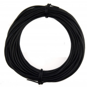Xsotica Round Leather Cord 1.5mm Natural Dye Black (10 metres