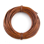 Xsotica Round Leather Cord 1.5mm Distressed Light Brown (10 metres