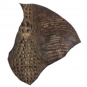 Italian Hornback Crocodile Embossed Cowhide Leather