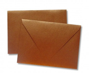 """Dovecraft Cards W/Envelopes 13cm ""X7"""" 8/Pkg-Metallic Antique Gold"""