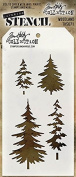 Stampers Anonymous - Tim Holtz - Woodland Stencil