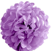 "S-shine 16"" Poms Large Fluffy Pom Pom Hanging Decorations Tissue Paper Pom Flowers For Celebrate Decoration Fluffy Hanging Lantern Party/Wedding Blooms Ball (Lilac"
