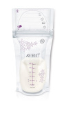 147th AVENT Breast Milk Storage Bags, Clear, 180ml, 50 Pack