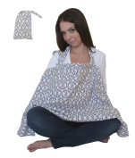 Nursing Cover for Breastfeeding Privacy EXTRA WIDE for Full Coverage - Breathable 100% Cotton , . and - AZO Free