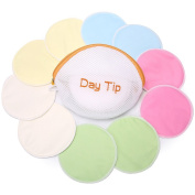 Nursing Pads Reusable, Washable, Stay Dry Nursing Bra Pads(10 Pack) with Eco Friendly Laundry & Travel Bag