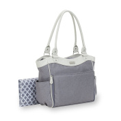 Carter's Convertible Drop Front Tote Nappy Bag, Grey Heather