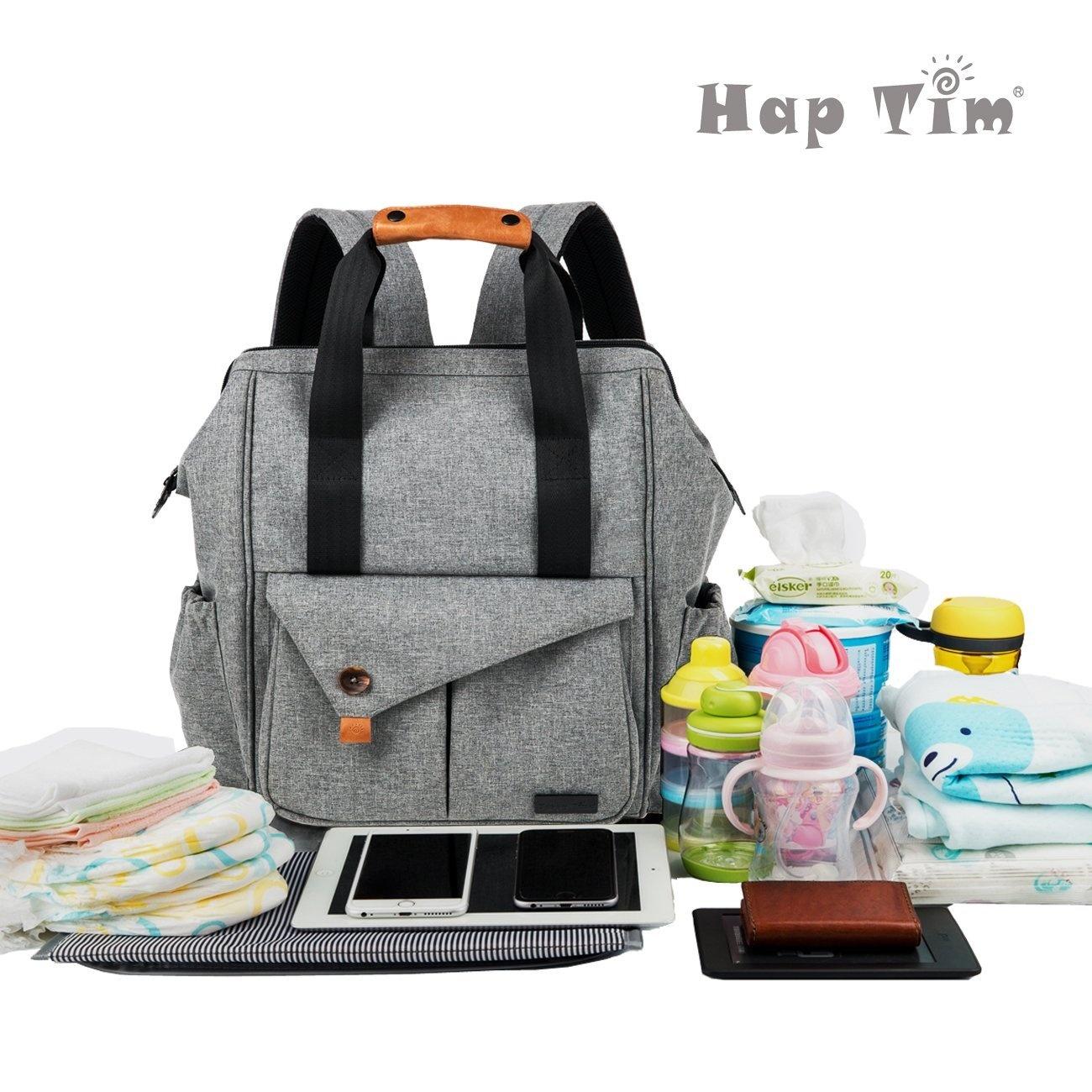 68dd1c12b0ba HapTim Multi-function Baby Nappy Bag Backpack W  Stroller Straps ...