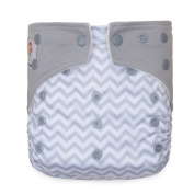"Kawaii Baby Printed One Size Cloth Nappy with 2 Microfiber Inserts "" Waves """