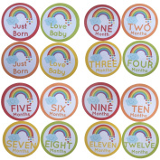 16 PCS Baby Monthly Belly Sticker Milestone Onesie Stickers For Newborn Boys Girls Shower Gift Or Scrapbook Photo Keepsake
