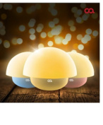 OA Mushroom shaped Roly-poly Mood Lamp Nursery Night Lamp Stand Bed Light USB Connect / AA Battery