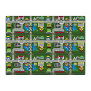 Flagship Carpet Children Learning Floor Playmat Nylon Places To Go - 1.8m x 1.8m Toys Christmas Gift