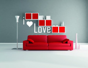 Love Quote and Heart - Mural Wall Decal Sticker For Home Room Door Car Laptop