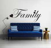 Family Phrases Quote - Mural Wall Decal Sticker For Home Room Door Car Laptop