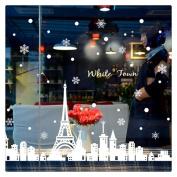 Snowflakes Stickers, Buedvo Wall Window Stickers Angel Christmas Vinyl Art Decoration Decals