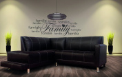 Family House Members - Family Quotes Lovely - Wall Decal For Home Bedroom Children