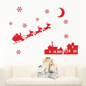 SMTSMT Snowman Snowflake Decoration Decal Window Stickers