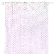 Purple Triangle Dot Window Drapery Panels - Set of Two 210cm by 110cm Panels