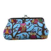 Gilroy Women Vintage Small Coin Purse Wallet Hasp Owl Clutch Bags Handbags