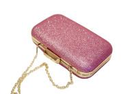 Womens Clutch Bag Ladies Glisten Evening Bag with Chain