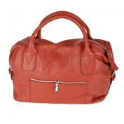 Woman Leather Weekender Handbag Colour Red