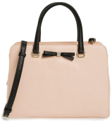 kate spade new york Henderson Street Morgane Leather Satchel Bag, Urchin Pink/Black