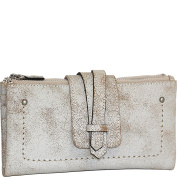 Nino Bossi Crackle Double Zip Wallet