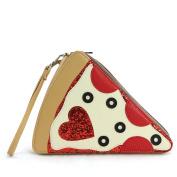 Pepperoni Slice Pizza Wristlet On Vinyl