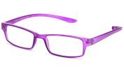 """Newbee Fashion - """"Odessa"""" Squared Fashion Thin Frame Wrap Around Reading Glasses"""