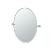 Gatco 4649 Glam Oval Mirror, Satin Nickel