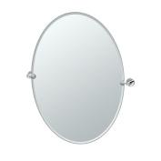 Gatco 4639LG Glam Large Oval Mirror, Chrome