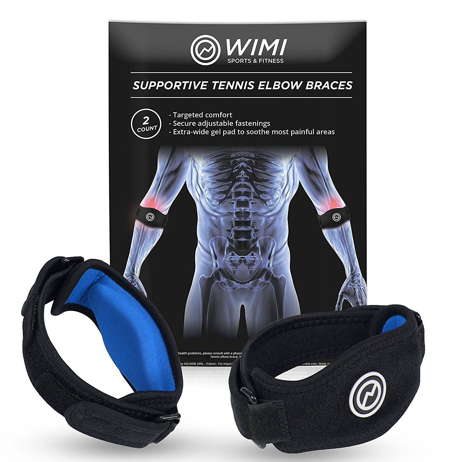 ff281aec9f 2-Pack Tennis Elbow Brace with Compression Pad by WIMI Sports - Best ...
