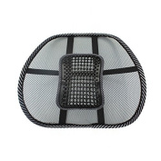 PrimeTrendz Car Office Seat Chair Massage Back Lumbar Support Mesh Ventilate Cushion Pad