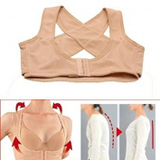 E-eyes Lady Chest Breast Support Belt Band Posture Corrector Brace Body Sculpting Strap Back Shoulder Vest X Type Pattern