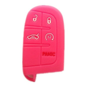 New Peachblow Silicone Remote Key Protect Holder Cover Fob for Chrysler 300 Dodge Challenger Dodge Charger Dart Durango Journey Jeep Grand Cherokee Keyless Key Bag Jacket Fob