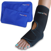 Foot & Ankle Pain Relief Ice Wrap with 2 Hot / Cold Gel Packs   Best for Achilles Tendonitis, Plantar Fasciitis, Bursitis & Sore Feet   Adjustable, Microwaveable, Freezable and Reusable