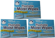 Flushable Moist Wipes Individually Wrapped on the Go Singles with Aloe and Vitamin E, 20 Count