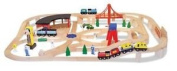 NEW! Melissa & Doug Deluxe Wooden Railway Train Set Toy Engine Shed More!