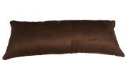 Pillowtex Suede Decorative Pillow 30cm x 80cm Dark Brown
