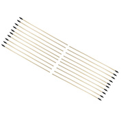 Wooden Arrows with Rubber Tip 50cm - 20 Piece
