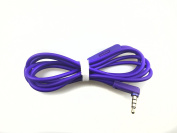Purple OFC Replacement Inline Remote and Mic Extension Audio Cable Cord for Monster Beats by Dr Dre Solo Solo HD Studio Wireless Pro Detox Mixr Executive Pill Headphones