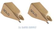 Ortofon 2 Pack of GOLD Stylus