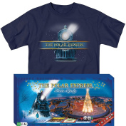 (Set) The Polar Express Train-opoly Classic Board Game And Tee Shirt - MD