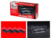 4 individual collectible display show cases for 1/64 scale model cars by Autoworld AWDC005