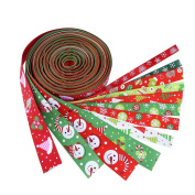 Outus Christmas Grosgrain Ribbon Winter Holiday Ribbon 2m, 12 Pieces, Multicolor