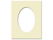 ADF Mat 8x10/5x7 Oval CrmCore Ivory