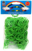 Colourful Loom Bands 600 GREEN Rubber Bands