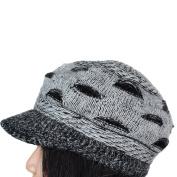 ECOSCO Women's Slouchy Cut Openings Fluffy Knit Crochet Beanie Winter Hat Cap